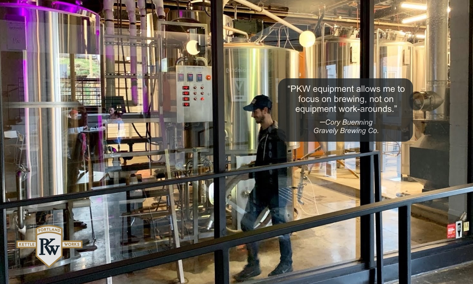 PKW Brewing Equipment at Gravely Brewery with Client Testimonial