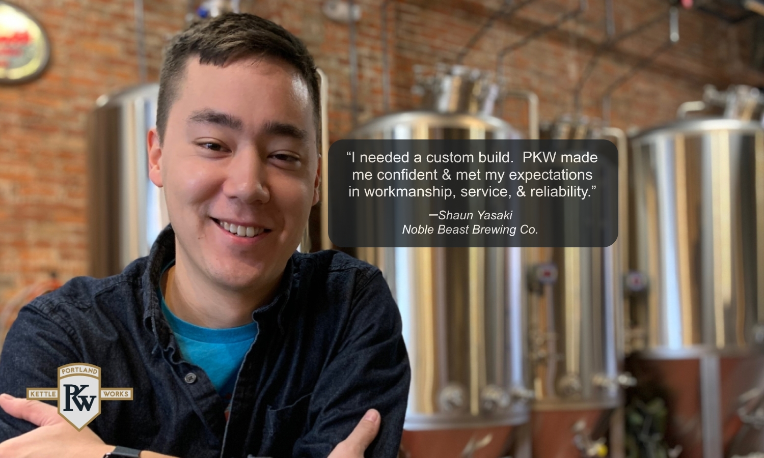 PKW Brewing Equipment at Noble Beast Brewery with Client Testimonial