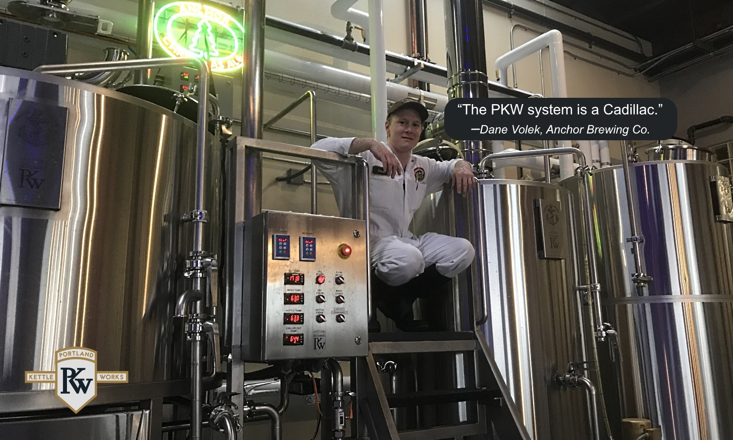 Brewing Equipment at Anchor Brewery & Client Testimonial