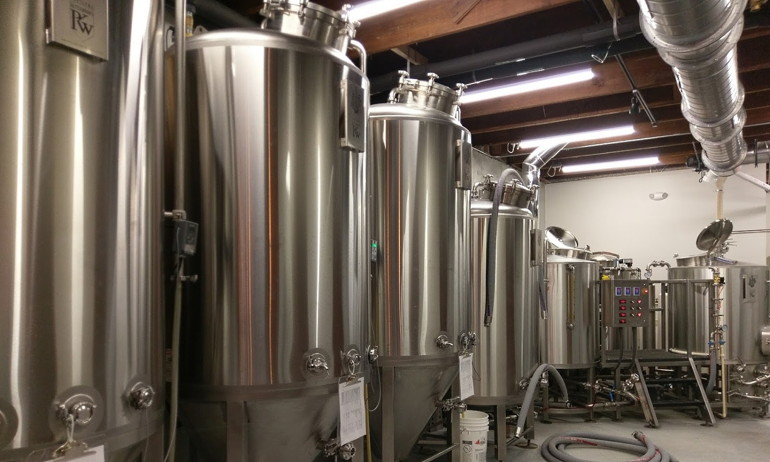 Tanks and other brewing equipmentNew Smyrna Beach Brewery, From Homebrewer to Pro Brewer