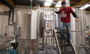 Brewmaster Ernesto Herrera Operating La Bru's PKW Brewhouse