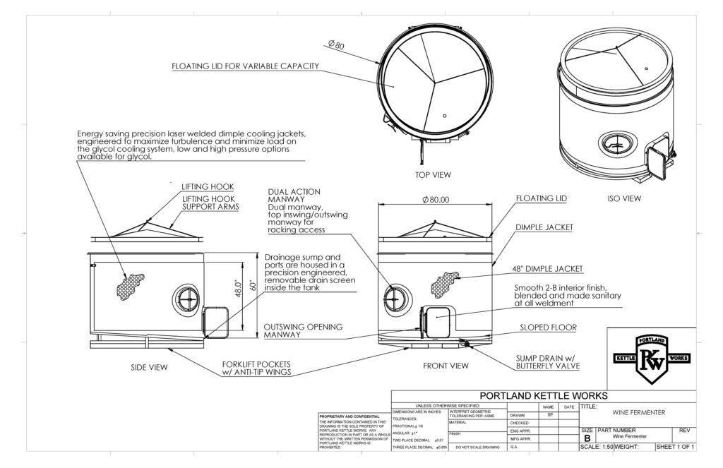 PKW Wine Tote Open-Top Spec Sheet