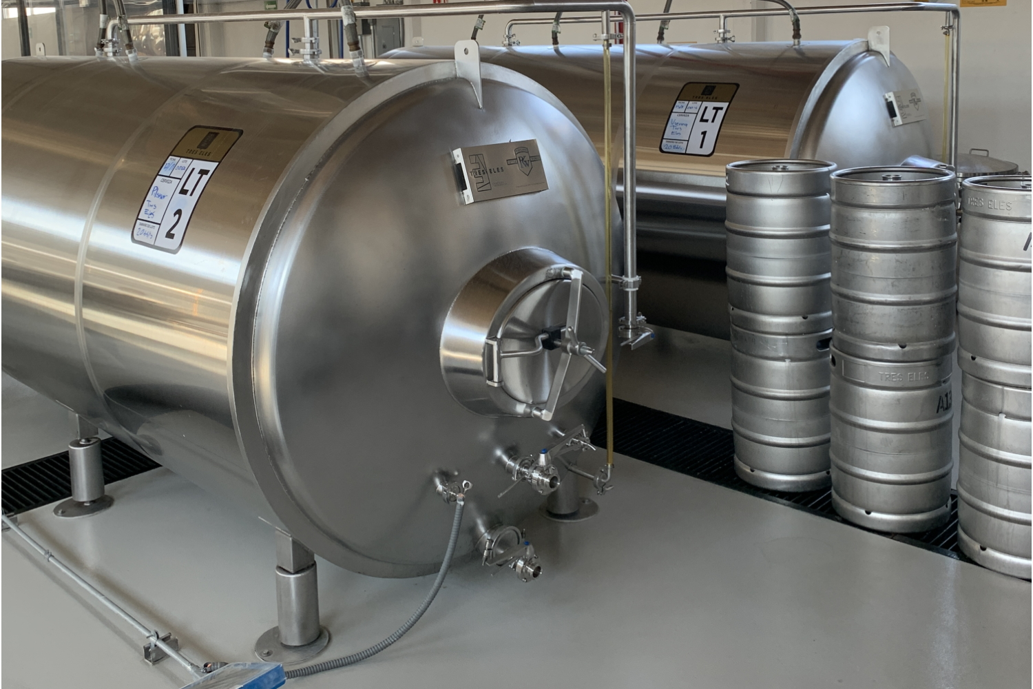 Horizontal Lagering Tanks from Portland Kettle Works